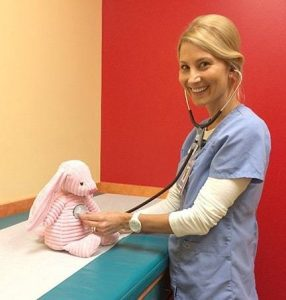 Shauna Kirn, overnight nurse at 24/7 Pediatric Care Centers.