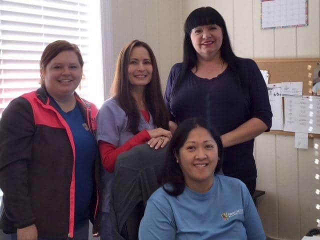 Meet the 24/7 Pediatric Care Centers billing department team. Pictured from left: Morgan, Sherry, Tina and Lallaine (front).